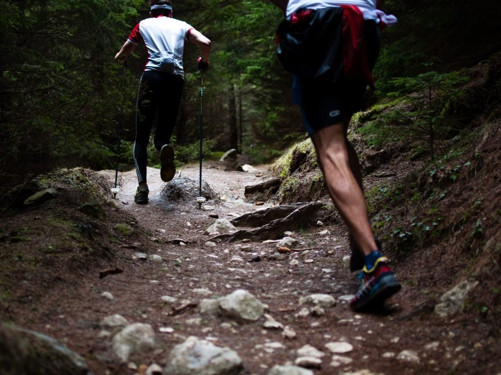 bieganie wdeszczu - teren