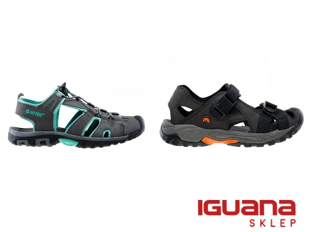 zabudowane sandały trekkingowe
