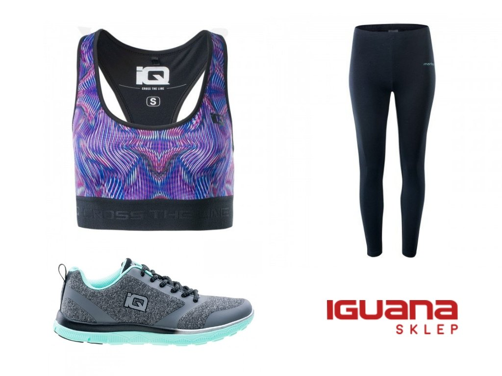 Biustonosz sportowy, legginsy ibuty treningowe zesklepu Iguana