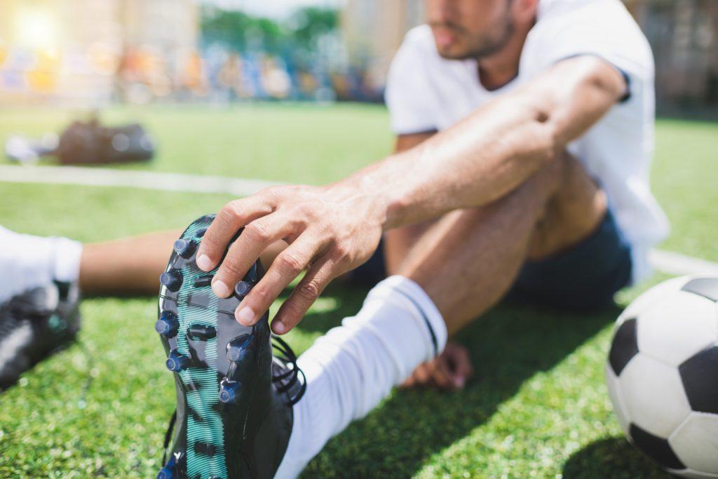 Trening piłkarski narozruszanie się