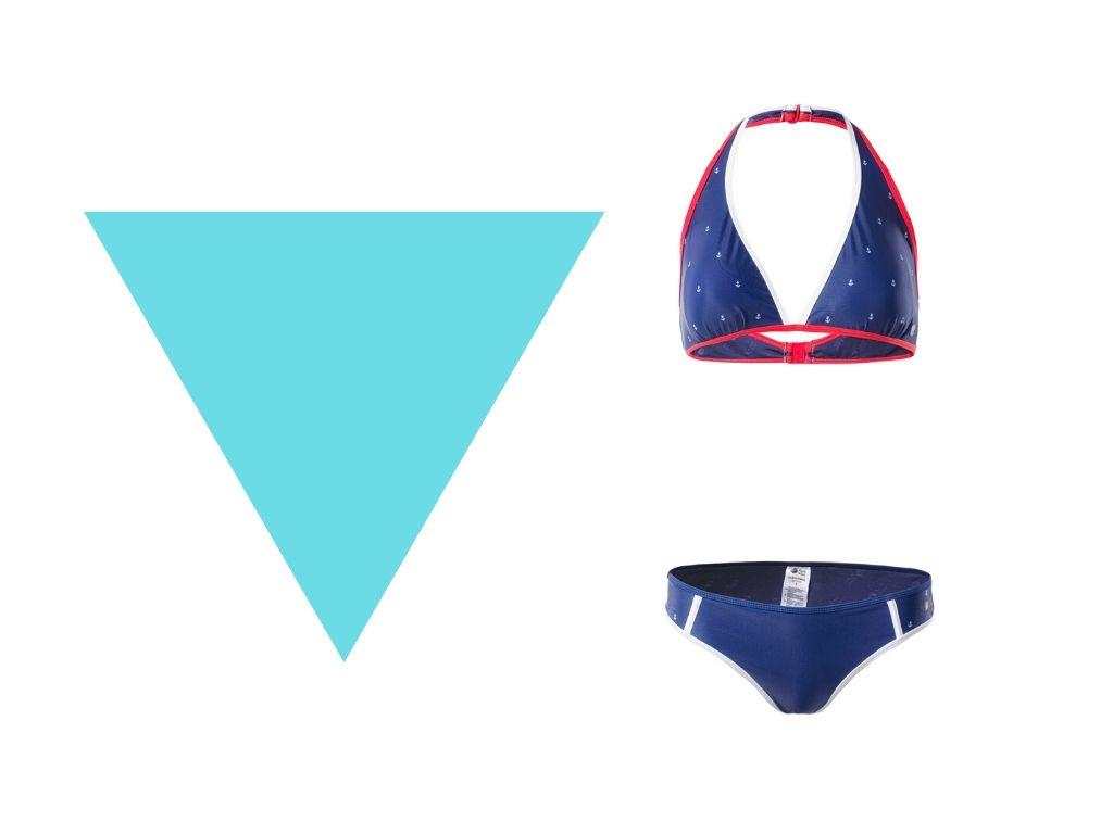 Strój kąpielowy dla figury typu trójkąt